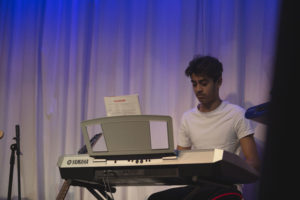 Our keyboard lessons teach you the skills to playing including live performance.
