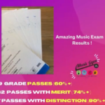 Exam Results at the Music Gym